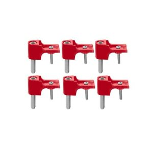 Taylor Brackets For Spark Plug Wire Separators 6 Piece Red