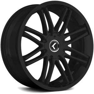 4 New 18 Inch Kraze Kr141 Cray 18x8 5x110 5x115 40mm Satin Black Wheels Rims