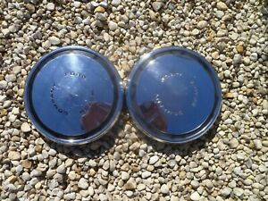 Vintage 1969 70 Ford Mustang Torino Gt Dog Dish Poverty Hubcaps Wheel Covers