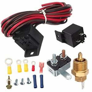 Degree Electric Cooling Fan Thermostat Kit Temp Sensor Temperature Switch