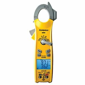 Fieldpiece Sc440 Essential Clamp Meter True Rms And Test Lead Holder