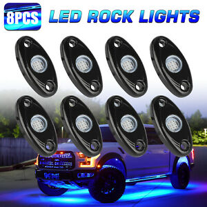 4pcs App Control 36 48 Rgb Led Strip Car Tube Underglow Underbody Neon Lights