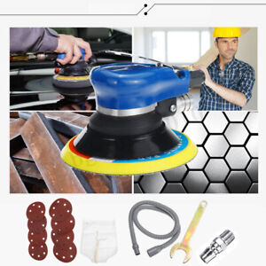6 Air Random Orbital Palm Sander 10000rpm Auto Body Orbit Da Sanding Hose Kit
