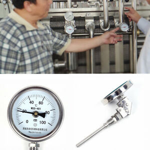 Stainless Steel Metal Thermometer L 100mm 50 500 Wss 481 High Precision