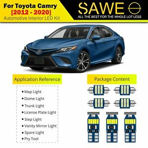 14 X Ultra White Led Interior Lights Package For 2012 2020 Toyota Camry Tool
