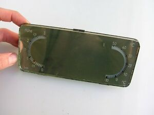 Vintage Accessory Mirror Thermometer Volkswagen Vw Split Oval Kdf Cox Bus Lufft