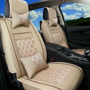 Summer Car Seat Cover Full Set Cushion Beads mesh For Sedan Suv Ultra Cool Comfy