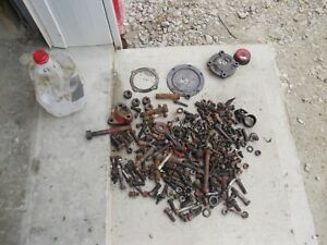 Ford 641 Tractor Box Misc Bolts Nuts Cap Parts Pieces Bolts Nuts Washers