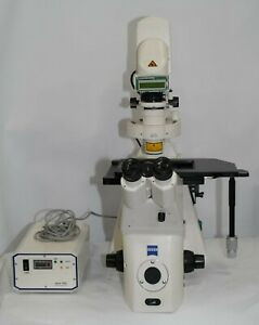 Zeiss Axiovert 200m Motorized Inverted Fluorescence Microscope Hbo100