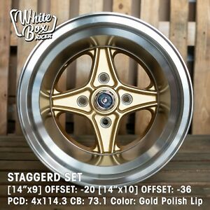 14 Staggerd Set Hart Racing Inspired Wheels For Retro Jdm Rides