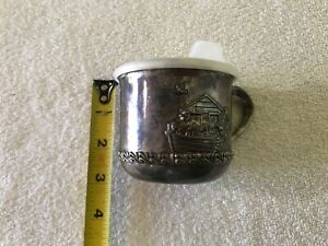 Vintage Godinger Silver Plate Noah S Ark Baby S Sippy Cup With Lid