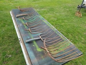Lot Of 7 Vtg Pitchfork Heads Hay Silage 3 And 4 Tine