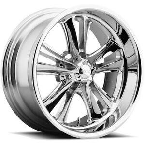 4 foose F097 Knuckle 18x8 5x4 75 1mm Chrome Wheels Rims 18 Inch