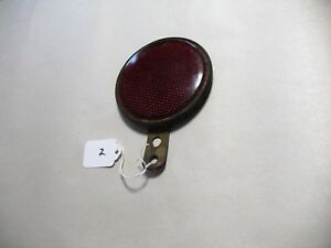 A 1930 s Saf t ray 4 Diameter Red Reflector License Plate Topper Bracket R 2