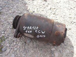Delco Remy Cub Cadet Tractor Working 12v Starter Generator Belt Drive Pulley