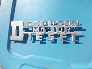 Fordson Major Diesel Tractor Originl Power Major Chrome Hood Side Panel Emblem