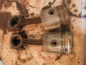 2 Cockshutt 30 Tractor Original Engine Pistons Rods