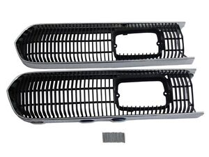 Pg Classic 3308s set Mopar 1968 Plymouth Barracuda Grille Trim And Screen Set