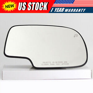 For 1999 2007 Chevy Gmc Sierra Power Heated Passenger Right Side Mirror Glass