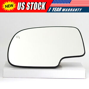 For 99 07 Chevy Silverado Gmc Sierra Power Heated Driver Left Side Mirror Glass