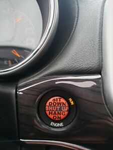Challenger Keyless Starter Push Go Start Button Decal Emblem Sit Down Shut Up