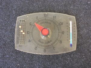 Vintage Car Accessory Park Suction Window Clock Thermometer Milage Perohaus Ghe