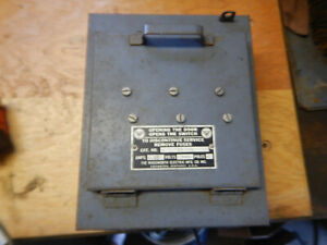 Vintage Wadsworth Disconnect 30 Amp Electrical Box