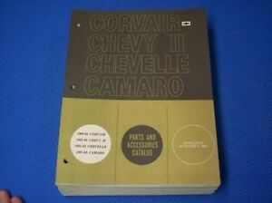 1969 Chevrolet Parts Catalog Camaro Chevelle Chevy Ii original Gm