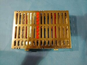 Hu friedy Ims Cassette Signature Series Red Case Tray 8 Instrument Slots