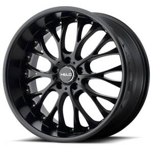 22x8 5 Helo He890 5x114 3 Et40 Satin Black Wheels set Of 4