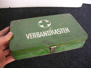 First Aid Box Vintage Classic Car Accessory Mercedes Mb Bmw Vw Germany