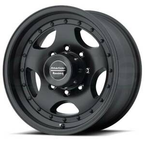 15x8 American Racing Ar23 5x127 Et 19 Satin Black W Clear Coat Rims set Of 4