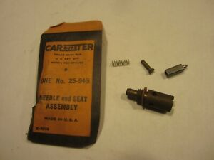 1939 1940 Studebaker 1946 1949 Willys Carburetor Needle And Seat Carter Wo Wa1