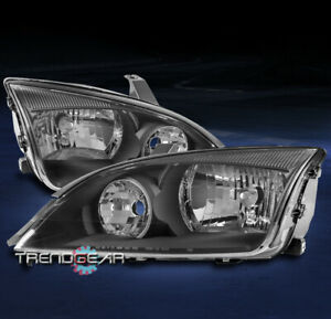 For 2005 2006 2007 Ford Focus Se Zx4 Replacement Headlights Headlamps Lamp Black