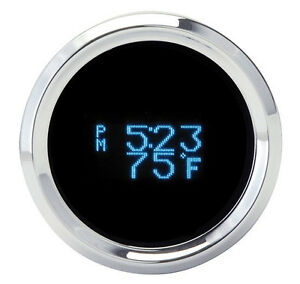 Dakota Digital Solarix 2 1 16 Round Clock Gauge Date Temp Blue Display Slx 16 1