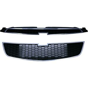 Capa Grille Grill Set Of 2 Upper For Chevy Cruze Gm1200623c Gm1200624c Pair