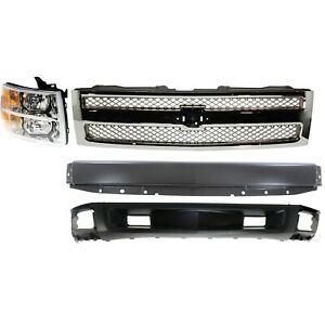 Bumper Kit For 2007 2013 Silverado 1500 Front For All Cab Types 4pc
