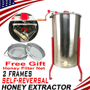 Self reversal Honey Extractor Beekeeping Equipment Bee 2 frame W Stand New A
