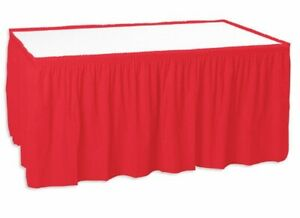 Shirred Pleated Trade Show Table Skirt For 6 Table Unprinted