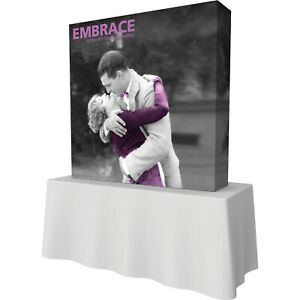 Embrace Push fit 2x2 Tension Fabric Table Top Display