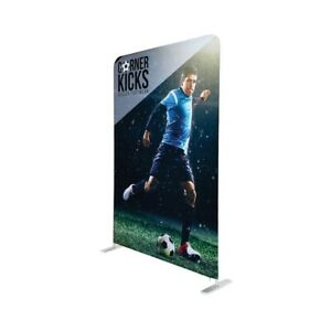 Tsj Graphic Tension Fabric Banner Trade Show Display 5 Double Sided Divider
