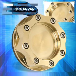 Anodized 24k Gold Engine Oil Fill Octogon Cover Cap Billet Aluminum For Toyota