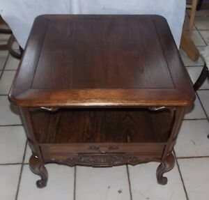 Mahogany Carved End Table Side Table By Weiman T813