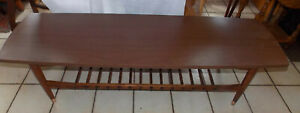 Mahogany Mid Century Formica Top Coffee Table Ct211