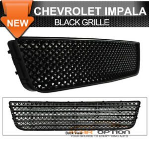 Fits 06 11 Chevy Impala Lower Hood Mesh Grille Black Abs Honeycomb Lt Ls Ltz
