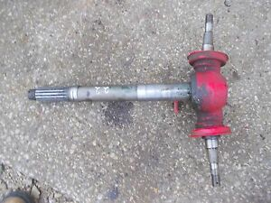 Massey Harris 22 Tractor Front Pedestal Spindle Shafts Nuts For Hubs To Tractor