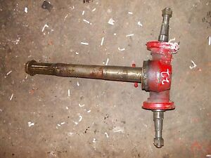 Massey Harris 22 Tractor Front Pedestal Spindle Shafts For Hubs To Tractor