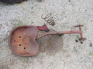 Massey Harris 33 Tractor Mh Original Easy Rider Seat Assembly W Metal Pan