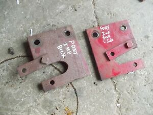 Massey Harris Pony Tractor Mh Implement Mounting Brackets Bracket