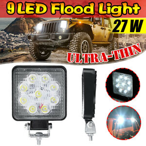 Square Flood Square Led Work Light Driving Fog Lamp For Jeep Truck Suv Universal